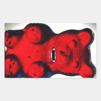 Giant Blood Sucking Candy Bear Rectangular Sticker
