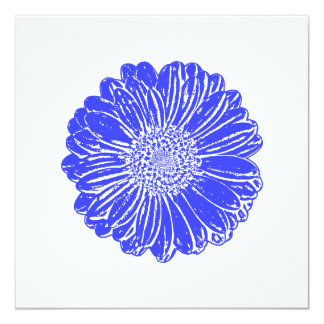 Giant Blue Gerbera Daisy Card