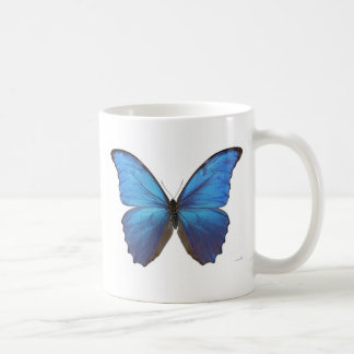 Giant Blue Morpho Butterfly Classic White Coffee Mug