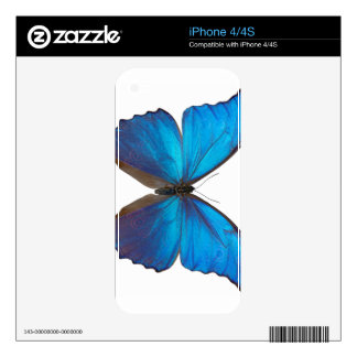 Giant Blue Morpho Butterfly Skin For iPhone 4S
