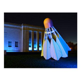 Giant Blue Shuttlecock, Kansas City, Missouri Postcard