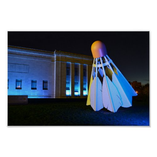 Giant Blue Shuttlecock, Kansas City, Missouri Poster