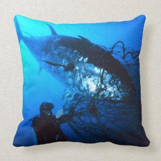 Giant Bluefin Tuna Caught in a Net Pillow
