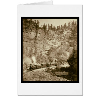 Giant Bluff Train Black Hills SD 1890 Greeting Card