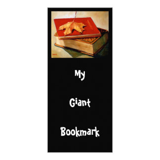 GIANT BOOKMARK: ART: BOOKS: LEAF RACK CARD