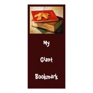 GIANT BOOKMARK: ART: BOOKS: LEAF CUSTOM RACK CARDS