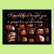 Giant Box of Chocolates Romantic Valentine Card