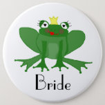 Giant Bride Badge with Princess Frog Button