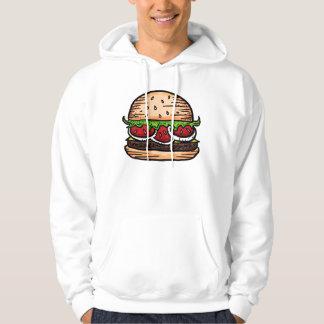 Giant burger humor hoodie