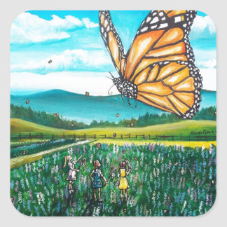 Giant Butterfly Square Sticker