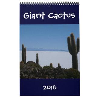 giant cacti 2016 calendar