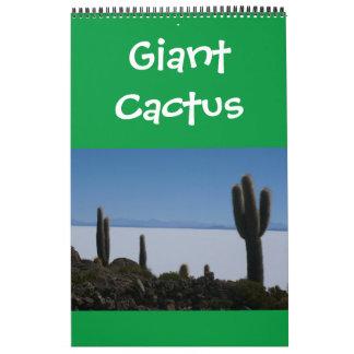 giant cacti calendar