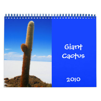 giant cactus 2010 calendar