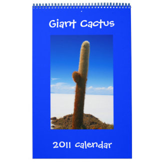 giant cactus 2011 single page calendar