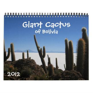 giant cactus 2012 calendar