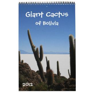 giant cactus calendar 2012