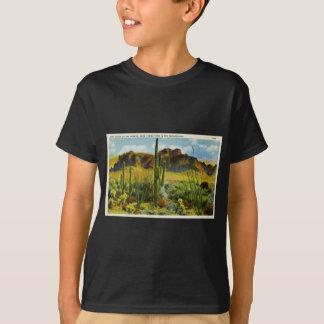 Giant Cactus in Desert Vintage Postcard T-Shirt