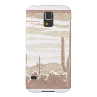 Giant Cactus Sunset Galaxy S5 Case