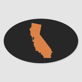 Giant California Oval Sticker