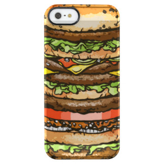 Giant Cheeseburger Clear iPhone SE/5/5s Case