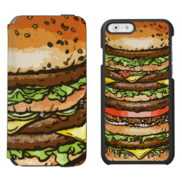 Giant Cheeseburger iPhone 6/6s Wallet Case