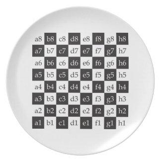 giant chess melamine plate