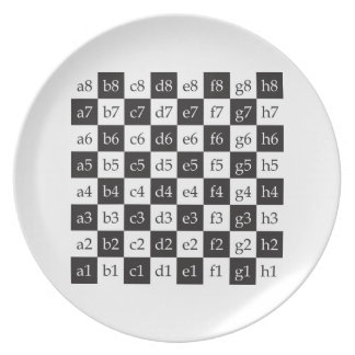 giant chess party plates