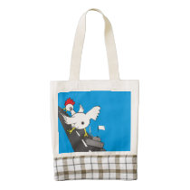 Giant Chicken! Zazzle HEART Tote Bag
