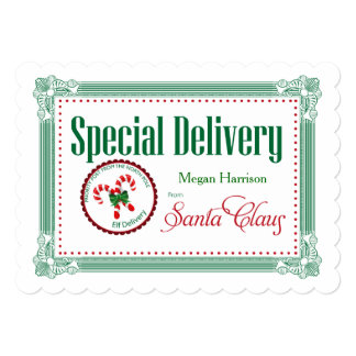 Giant Christmas Special Delivery Custom Gift Tag Card