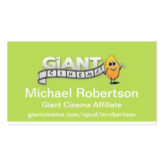 Giant Cinema Promotion Promo Marketing Materials Business Card Template
