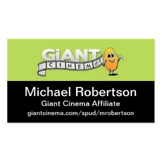 Giant Cinema Promotion Promo Marketing Materials Business Card