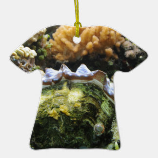Giant Clam Double-Sided T-Shirt Ceramic Christmas Ornament