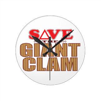 Giant Clam Save Round Clock