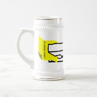 Giant clip with a message beer stein