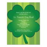 "Giant Clover St Patricks Day Party Invitation 4.25"" X 5.5"" Invitation Card"