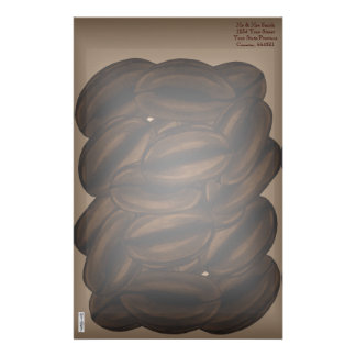 Giant Coffee Beans Stationery Paper