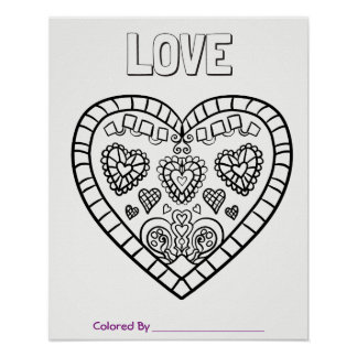 Giant Coloring Page Poster