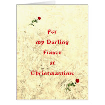 Giant Darling Fiance Christmas Card