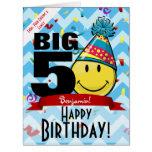 Giant Decade Mark Happy Birthday Smiling Big Card