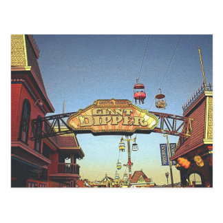 Giant Dipper Sign Postcard