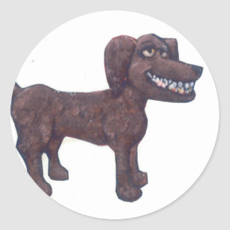 Giant Dog Classic Round Sticker
