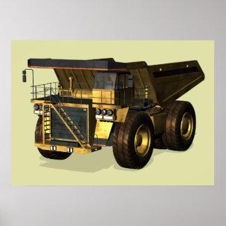 Giant Dump Truck Poster