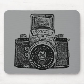 Giant East German Camera - Black and Gray Mouse Pad