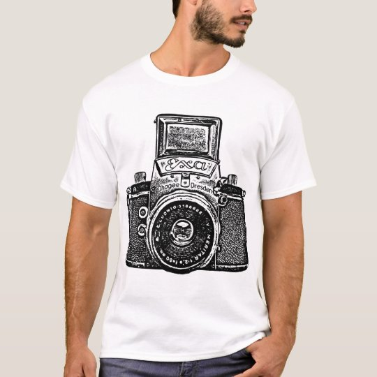 Giant East German Camera - Black T-Shirt