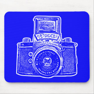 Giant East German Camera - Blue and White Mouse Pad