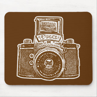 Giant East German Camera - Brown and White Mouse Pad