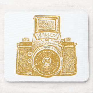 Giant East German Camera - Caramel Brown Mouse Pad