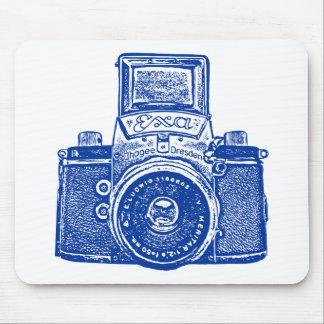 Giant East German Camera - Dark Blue Mouse Pad