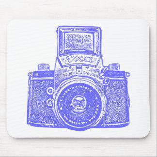 Giant East German Camera - Electric Blue Mouse Pad