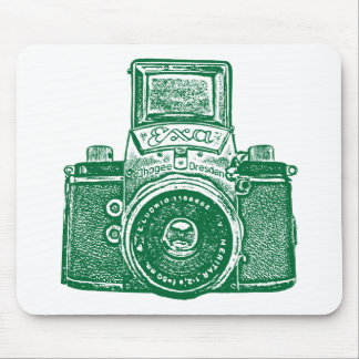 Giant East German Camera - Forest Green Mouse Pad